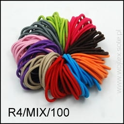 Hair gum - mix color / 100pcs.