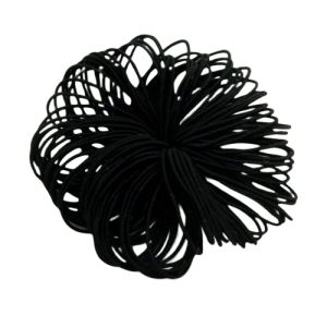 Thin hair gum - black / 100pcs.