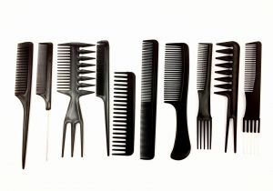Set of hairdressing combs / 10pcs.