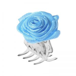 Big hair clip with blue rose / 30 pcs.